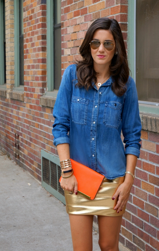 Chambray & Metallic